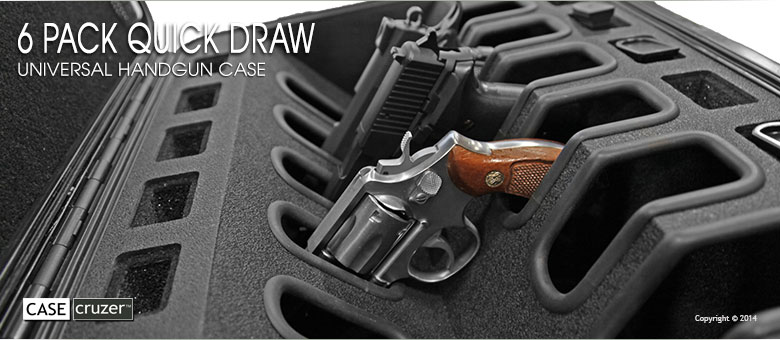 Quick Draw 6 Pack Universal Handgun Case Guncruzer